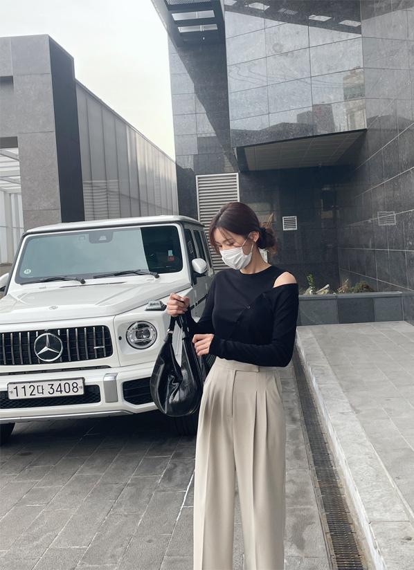 againby-[버튼사선 t]♡韓國女裝上衣