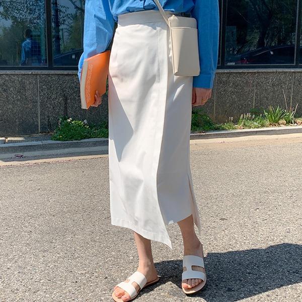 66girls-슬릿언발A롱스커트♡韓國女裝裙