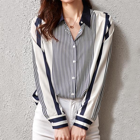 fashion-full-마르스 스트라이프 셔츠♡韓國女裝上衣