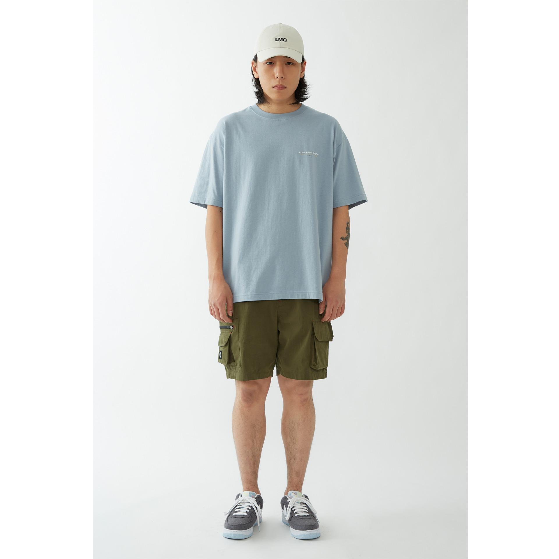 layer-LMC INSPIRATION TEE blue gray♡韓國男裝上衣