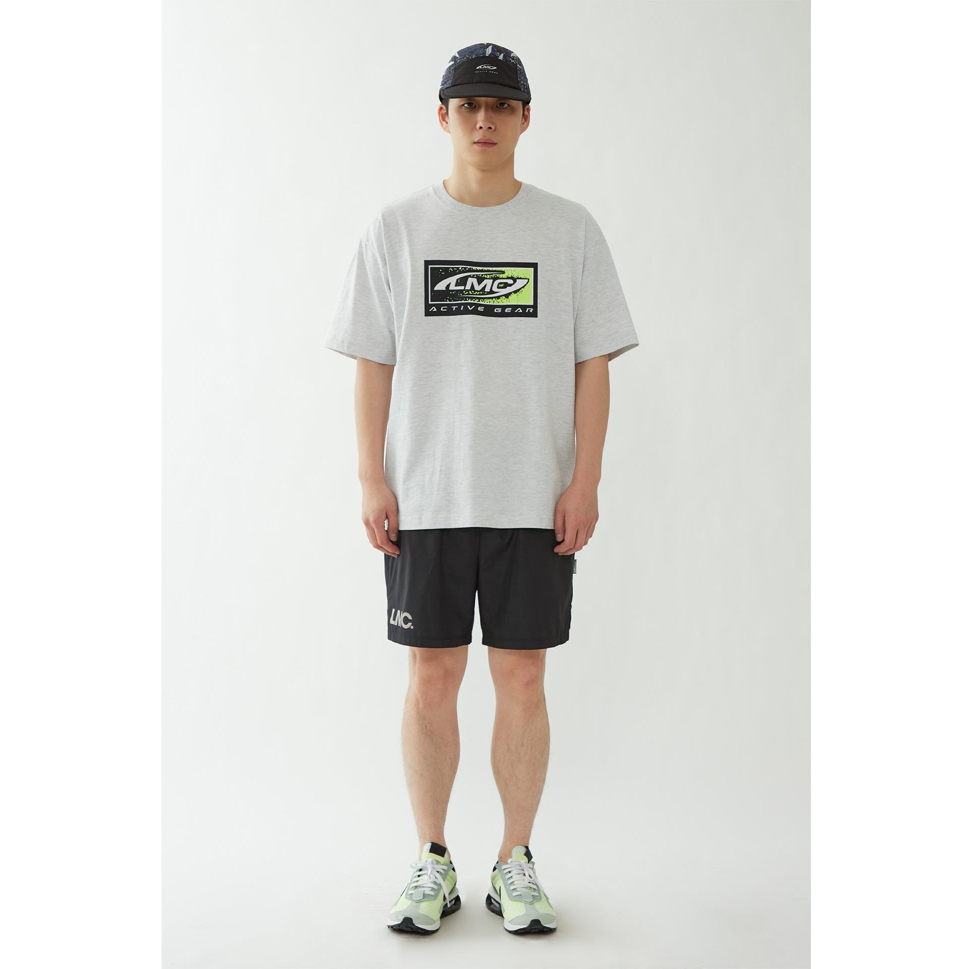layer-LMC BOX ACTIVE GEAR TEE lt. heather gray♡韓國男裝上衣