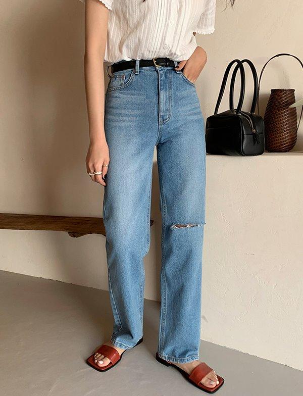 browncode-step denim jeans♡韓國女裝裙