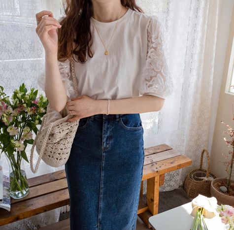 leelin-[크리스 비즈레스 티[size:F(55~66)]]♡韓國女裝上衣