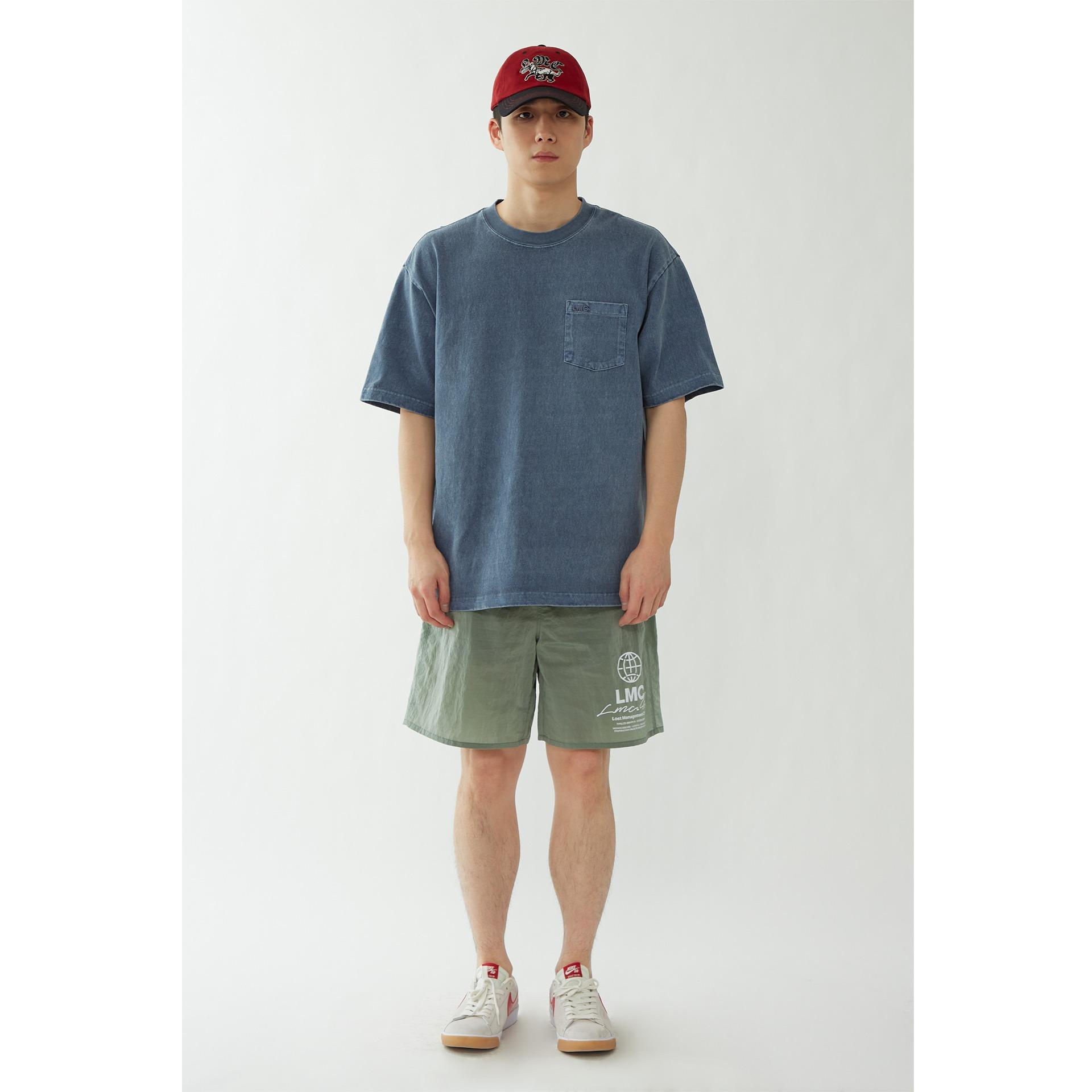 layer-LMC OVERDYED OG POCKET TEE navy♡韓國男裝上衣