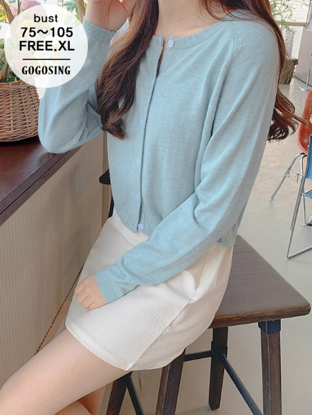 ggsing-[15일9시까지9%할인]소프트 라운드 니트가디건(12게이지2합,캐시미어,가둘레,무료배송)♡韓國女裝外套