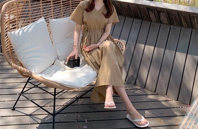 minsshop-(브이넥ver.)타임스 원피스(주문대박♥)♡韓國女裝連身裙