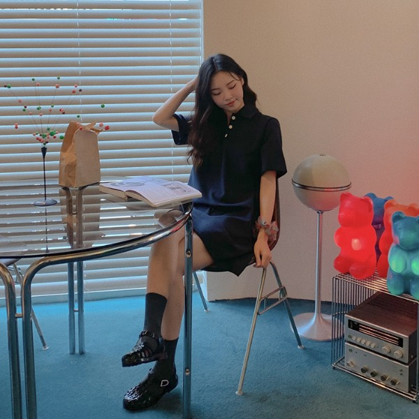 heylady-홀리스 카라원피스♡韓國女裝連身裙