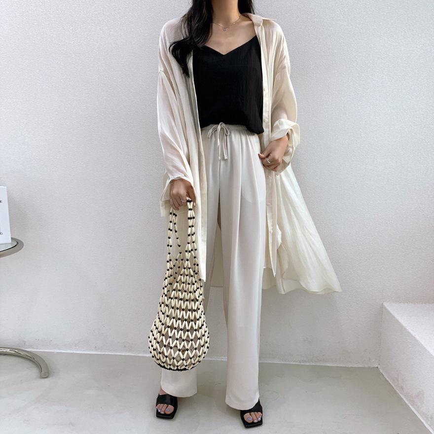 miamasvin-로바토 새틴 롱 셔츠♡韓國女裝上衣