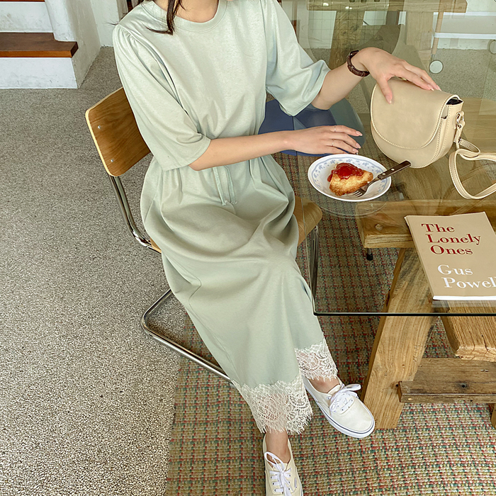 09women-[할렌 밑단 레이스 스트링 롱 원피스 59043]♡韓國女裝連身裙