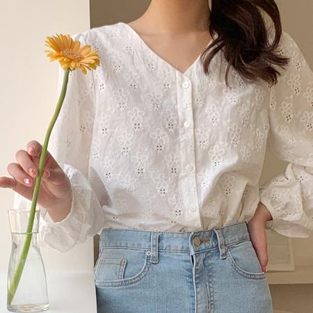 mimididi-[pure white♡ 블라우스_2088]♡韓國女裝上衣