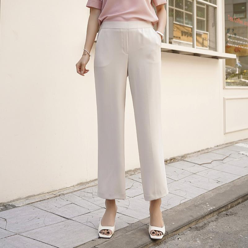 clicknfunny-쓱완성핏감 와이드슬랙스[FREE,L사이즈]♡韓國女裝褲