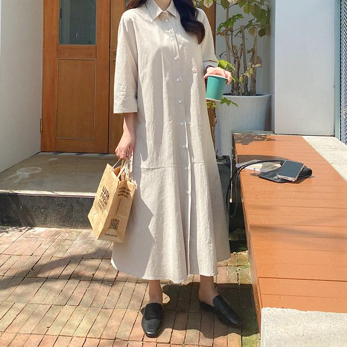 09women-[리블테 셔츠 롱 원피스 59045]♡韓國女裝連身裙