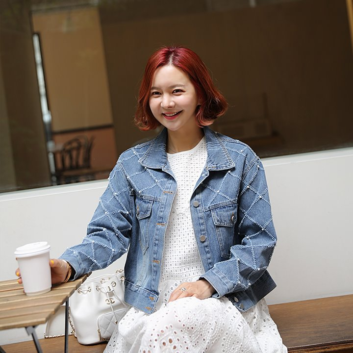 lemite-다야진주 데님자켓(19일까지12%!프리오더)♡韓國女裝外套