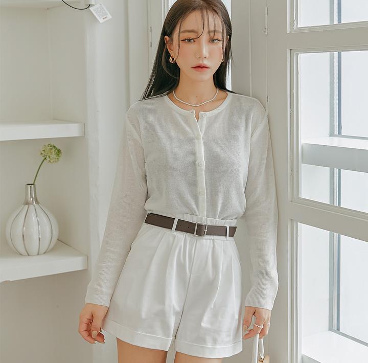 common-unique--델론 라운드 니트 가디건♡韓國女裝外套