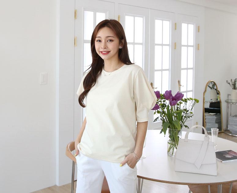 happy10-[*신상5% 기간한정할인*임부복*세련된 볼륨소매 티]♡韓國孕婦裝上衣