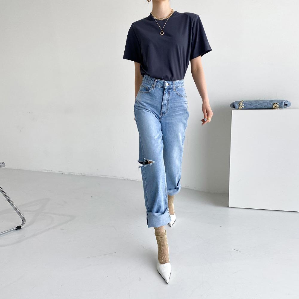 ppgirl-옆트임 와이드 청바지pt H290♡韓國女裝褲