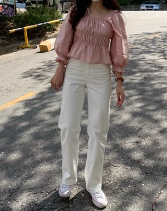 swanee-심플 하이웨스트 와이드 PT (2color)♡韓國女裝褲