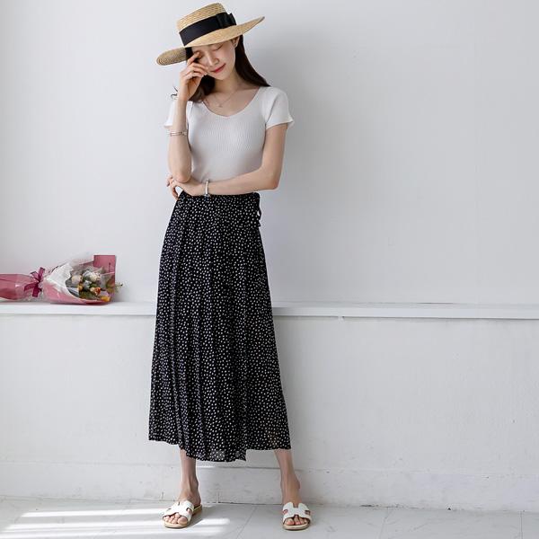 misscandy-[no.20328 스퀘어패턴 뒷밴딩 랩치마바지]♡韓國女裝褲