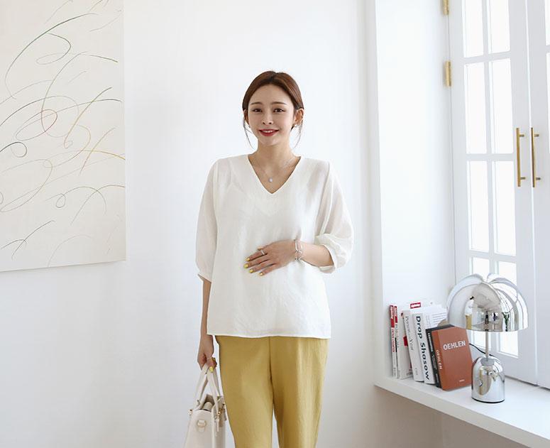 happy10-[*신상5% 기간한정할인*임부복*퓨어심플 블라우스]♡韓國孕婦裝上衣