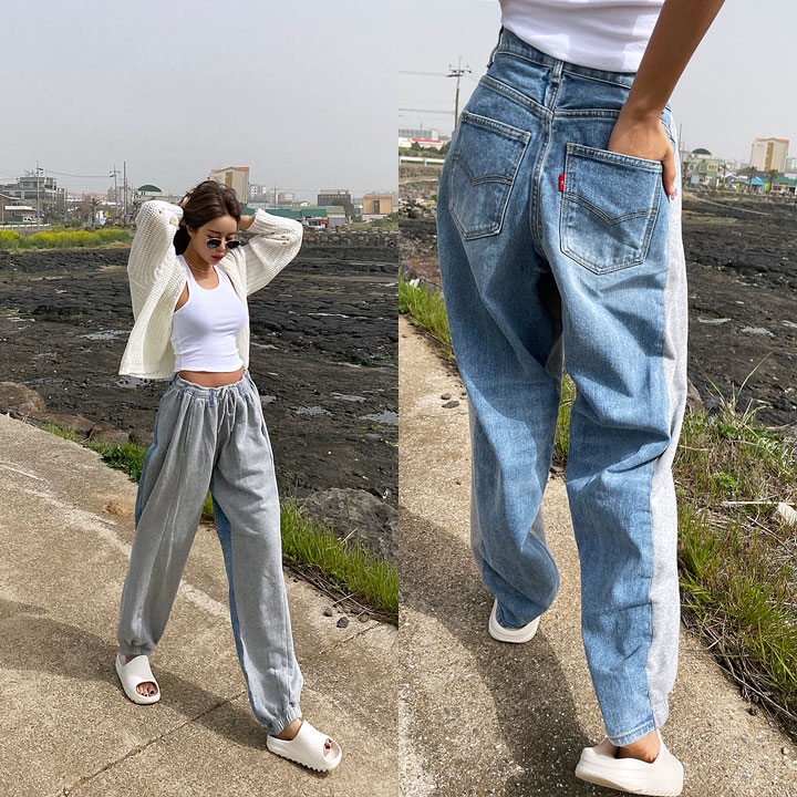 lagirl-믹스밴딩커스텀팬츠-pt♡韓國女裝褲