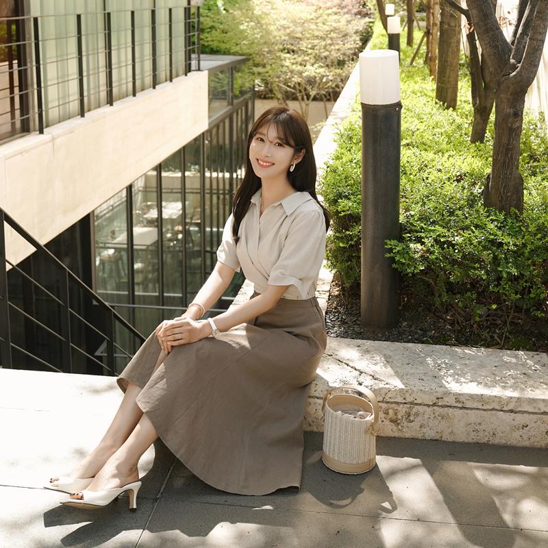 clicknfunny-히데카라 린넨원피스♡韓國女裝連身裙