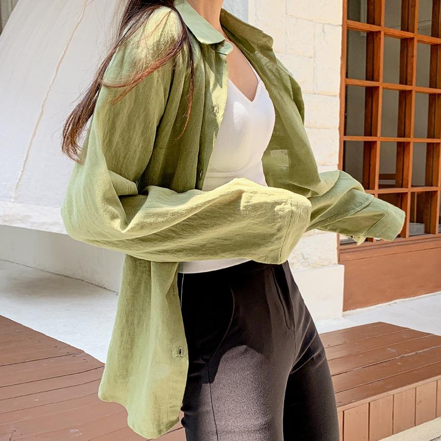 envylook-감성린넨포켓셔츠♡韓國女裝上衣