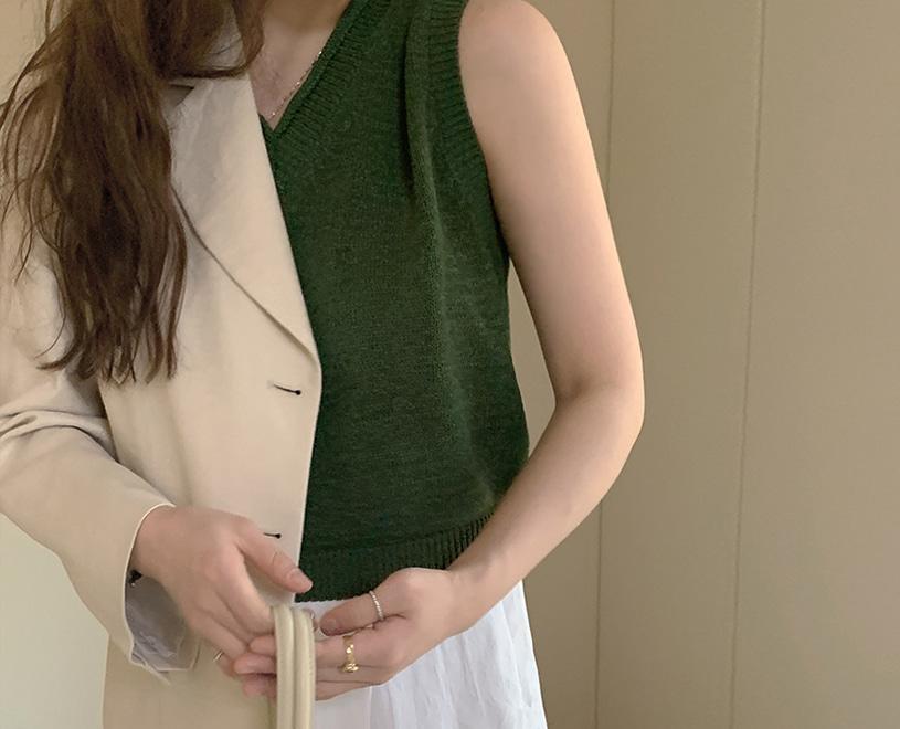 maybe-baby-[♥24시간만! NEW 5%할인♥] Hygena (니트/vest) -4colors♡韓國女裝上衣