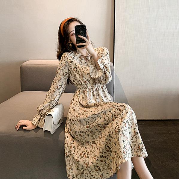 fashion-full-아테 플라워 롱 원피스♡韓國女裝連身裙