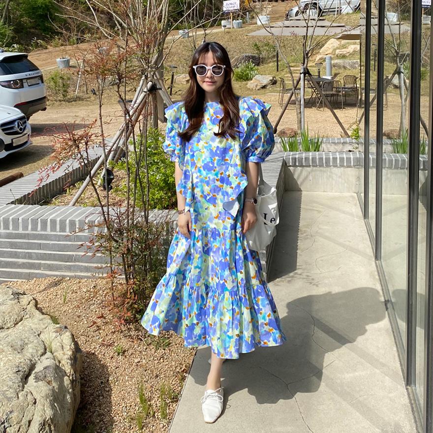 miamasvin-오하라 플라워 원피스♡韓國女裝連身裙
