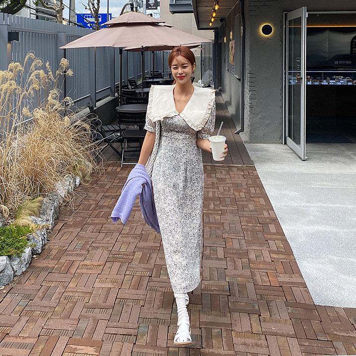 lagirl-가드닝카라플라원피스-ops♡韓國女裝連身裙