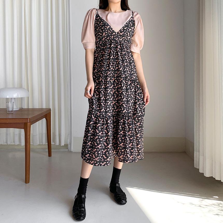envylook-캉캉슬립꽃원피스♡韓國女裝連身裙