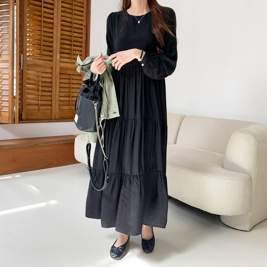envylook-브리엔캉캉플레어롱원피스♡韓國女裝連身裙