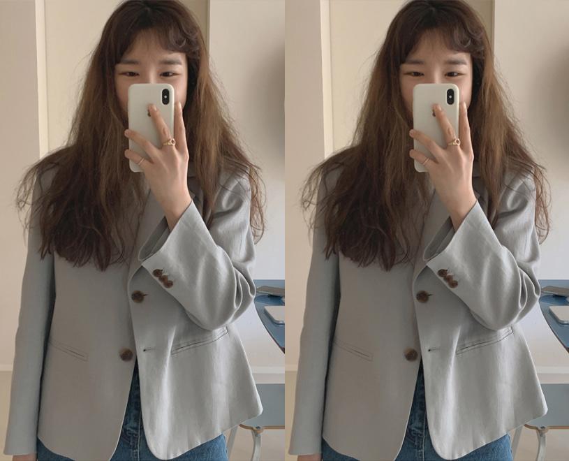 maybe-baby-[♥24시간만! NEW 5%할인♥] [Dearest] Muel (jk) -블루그레이 (1차수량소진/예약주문/배송준비기간이 5-7일정도 소요됩니다)♡韓國女裝外套