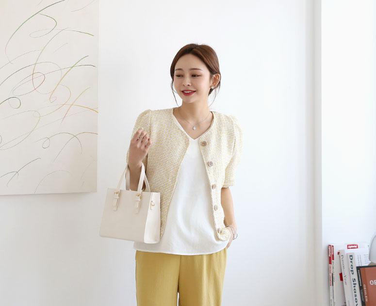 happy10-[*신상5% 기간한정할인*임부복*트위드캔디 자켓]♡韓國孕婦裝外套