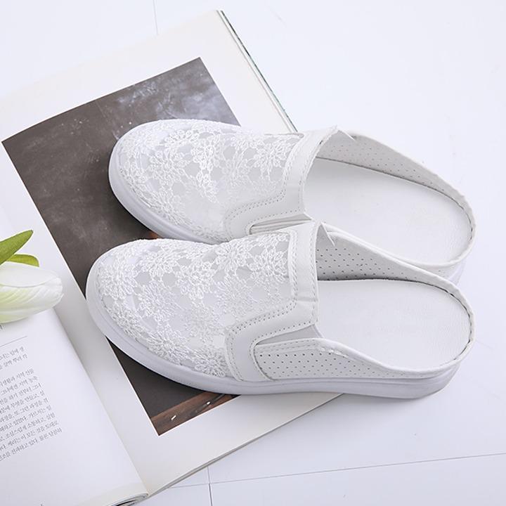 lemite-레이슈 블로퍼(6cm키높이)♡韓國女裝鞋