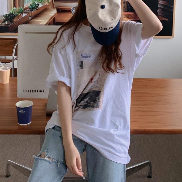 heylady-카프린 나염 박스티♡韓國女裝上衣