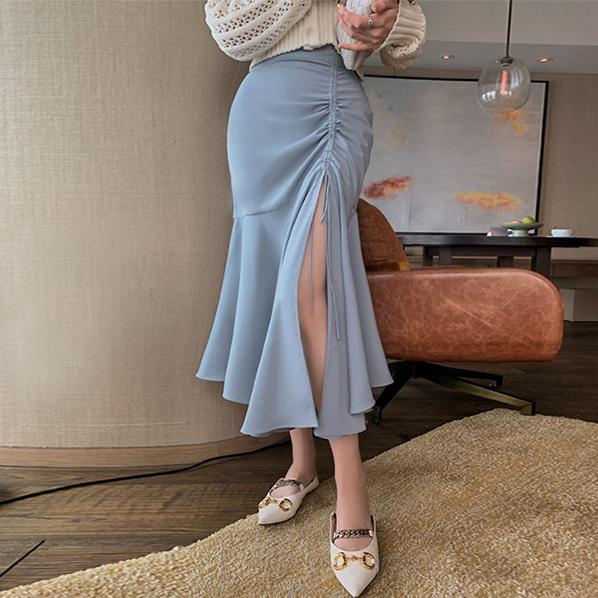 fashion-full-소다 슬릿 셔링 스커트♡韓國女裝裙
