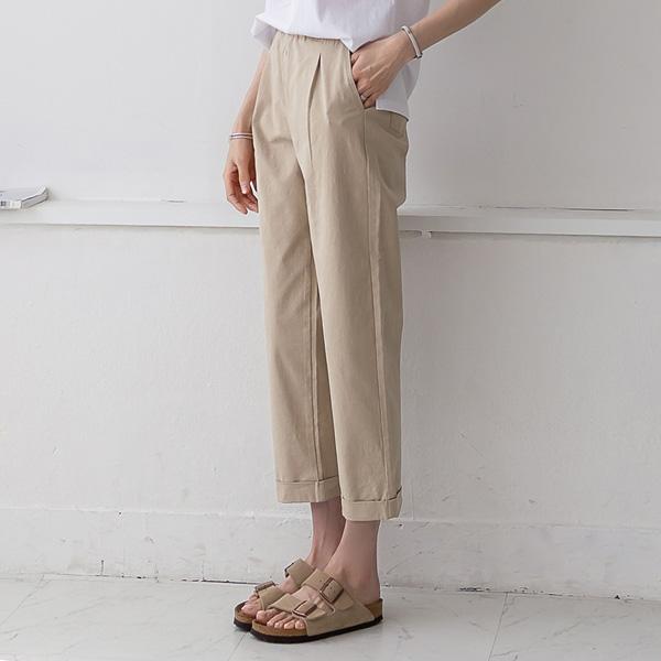 misscandy-[no.20331 올밴딩 배기핏 롤업팬츠]♡韓國女裝褲