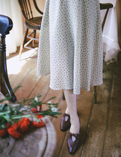 milkcocoa-1DayNew5%.sheepskin.romantic ribbon shoes♡韓國女裝鞋