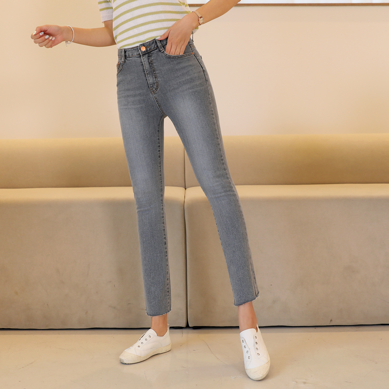 clicknfunny-겟시크그레이 슬림일자데님팬츠[S,M,L사이즈]♡韓國女裝褲