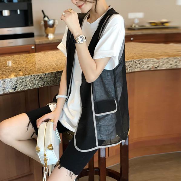 fashion-full-마스 티셔츠 & 베스트 SET♡韓國女裝上衣套裝