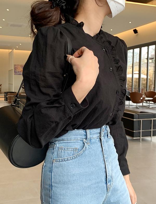 browncode-merry blouse♡韓國女裝上衣