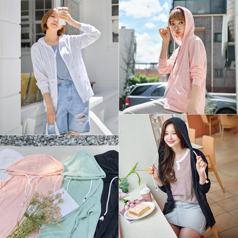 midasb-[방울 여름 후드 집업]♡韓國女裝外套
