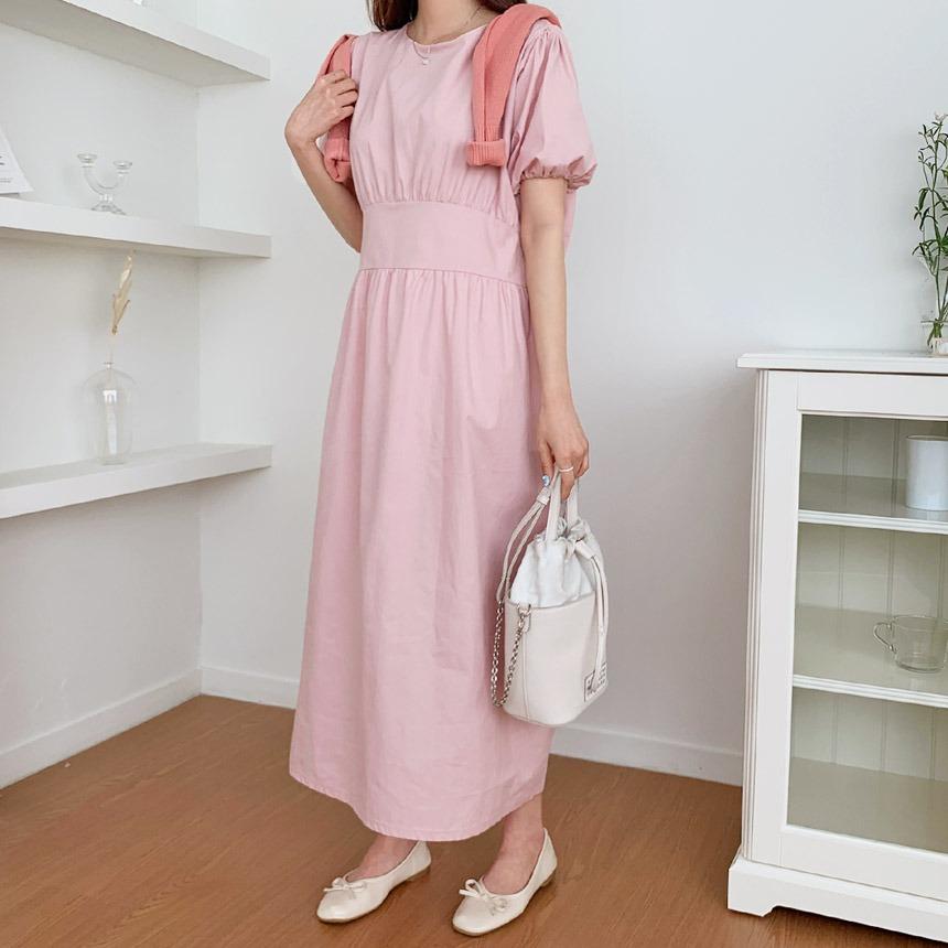 envylook-클로니퍼프플레어롱원피스♡韓國女裝連身裙