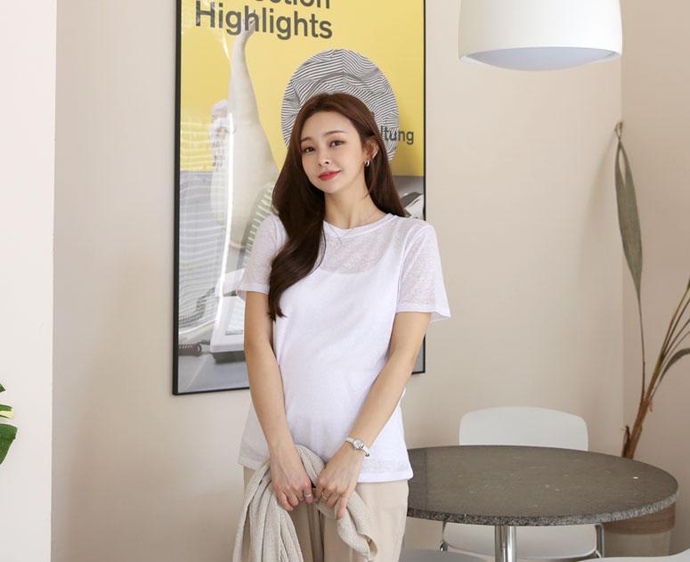happy10-[*신상5% 기간한정할인*임부복*린넨라운드 심플 니트]♡韓國孕婦裝上衣