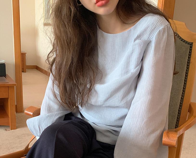 maybe-baby-[♥24시간만! NEW 5%할인♥] [Dearest] Sarr (bl) -스카이블루♡韓國女裝上衣