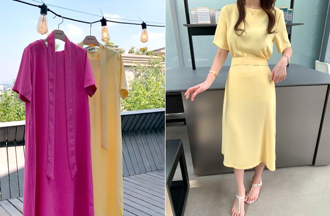 minsshop-(민스샵제작)(벨트set)누가봐도 예쁜 원피스 (주문대박♥)♡韓國女裝連身裙