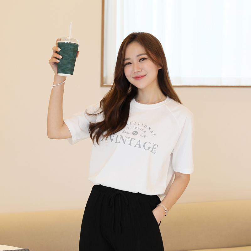 clicknfunny-티젯 래글런티셔츠♡韓國女裝上衣