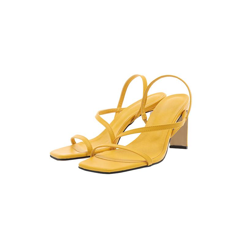 attrangs-sh2259 페미닌한 씬스트랩의 슬림 스퀘어핏 슬링백 하이힐 샌들 shoes♡韓國女裝鞋