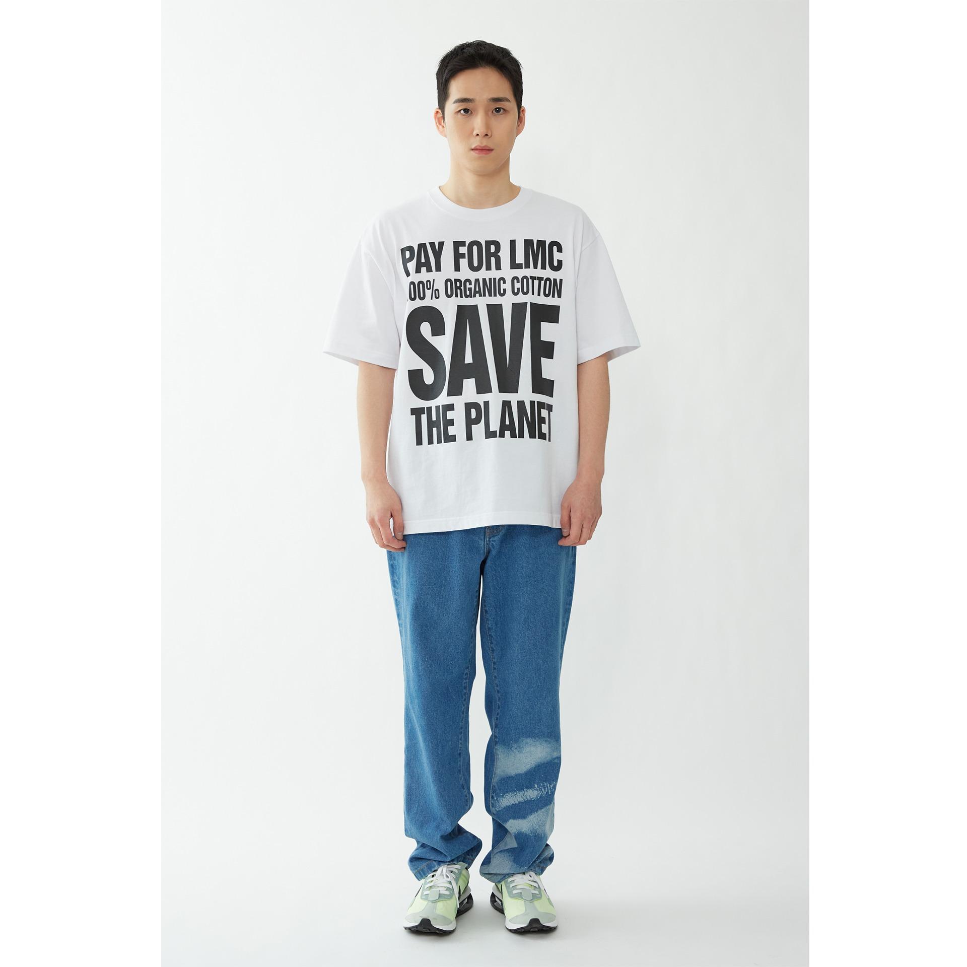 layer-LMC SAVE THE PLANET ORGANIC TEE white♡韓國男裝上衣